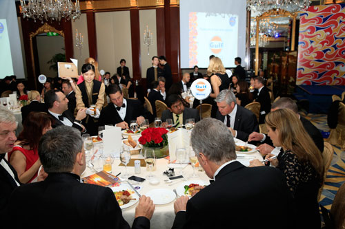 Gulf Oil Marine's table at Sailors' Society Hong Kong Annual Dinner